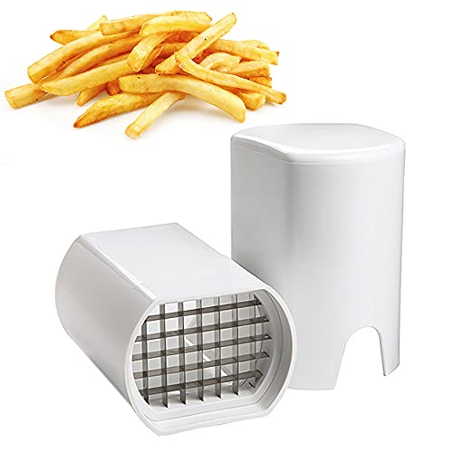 Speyang Coupe Frite, Coupe Frites Manuel, Coupe Frites Professionnel, Coupe Pomme de Terre pour Frite, Grille Coupe Frite INOX (Blanc)