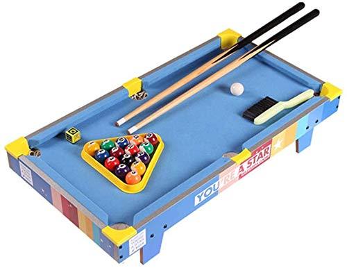 LINANNAN Tabletop Billiards Billiard Table Home Children's Desktop Small Mini Pool Table Creative Snooker Children Birthday Gift Pool Table (Color, Blue, Size, 69.5 * 37 * 13.5cm),Blue,69.5 * 37*.