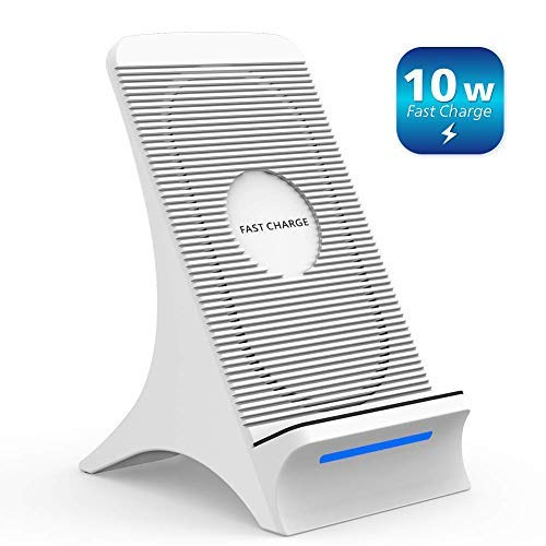 Fast Wireless Charger, NOVETE Qi Induktive Ladestation mit Lüfter 10W für Samsung Galaxy S10/S10+/S10e//Note 9/S9/S9+, 7.5W für iPhone 11/11 Pro/11 Pro Max/XS Max/XS/XR/X/8