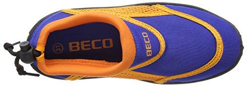 BECO Badeschuhe, Surfschuhe für Kinder,  blau, orange - 5