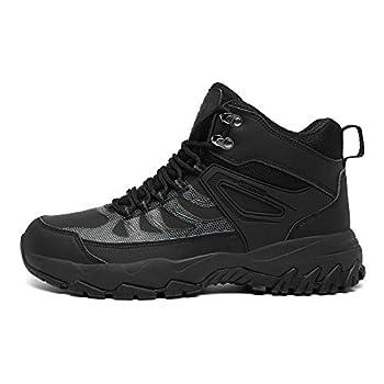 Ulogu Chaussures de Randonnée Homme Femme Imperméables Antidérapantes Chaussures de Marche, Noir, 44 EU