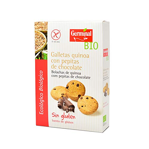 Galletas quinoa cacao con gotas de chocolate bio sin gluten - Germinal - 250g