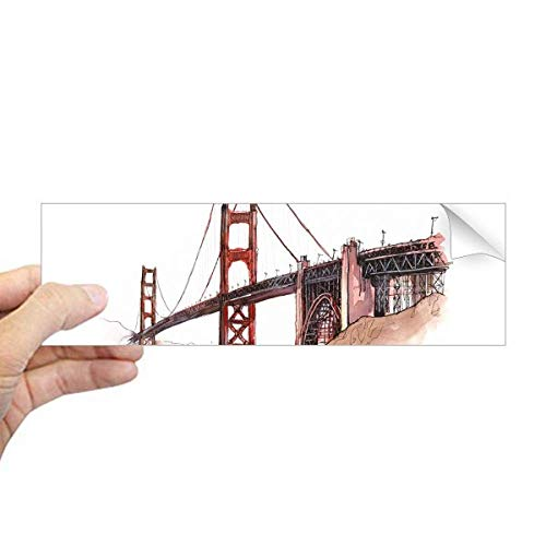 DIYthinker Gouden Poort Brug in Amerika Californië Rechthoek Bumper Sticker Notebook Window Decal
