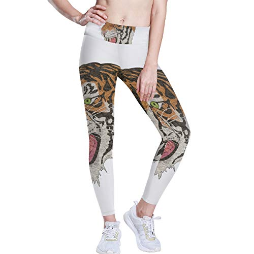 DEZIRO hoge taille Yoga Broek Tijger Roaring Art Schilderen Yoga Broek met Tummy Control, 4 Manieren Stretch Workout Hardlopen Yoga Leggings