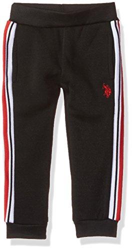 U.S. POLO ASSN. Fille E7NE00-081015-F.25 Polo Assn. Pantalon de Jogging en Polaire pour garçon. Slip - Noir - 3 Ans