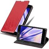 Cadorabo Hülle für Sony Xperia Z2 in Apfel ROT - Handyhülle mit Magnetverschluss, Standfunktion & Kartenfach - Hülle Cover Schutzhülle Etui Tasche Book Klapp Style