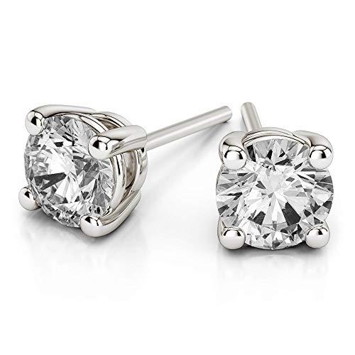 Natürliche Diamant Solitaire Ohrringe IGI zertifiziert 1/4ct Diamant Ohrringe für Frauen 14K Weißgold Diamant Ohrring IJ-I1I2 Qualität 14K Diamant Solitaire Ohrringe für Frauen