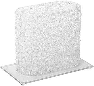 OneClod Home – Lámpara de mesa moderna de cristal y cristales fundidos con técnica Murano Made in Italy con acabado de gravilla y cristales helados lámpara elegante salón escritorio dormitorio