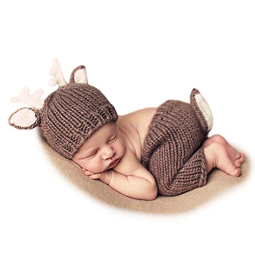Adorel Baby Fotoshooting Kostüme Set Tiere REH Mütze & Hosen