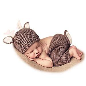 Adorel Atrezzo Fotografia per Bebé Recién Nacido Marrón Cervatillo