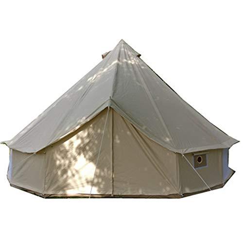 XDHN Grote Camping Tent, 3-12 Personen Bell Type Outdoor Bruiloft Tent, Outdoor Sun Shelter met Draagtas UV Bescherming Geschikt voor Familie Tuin.