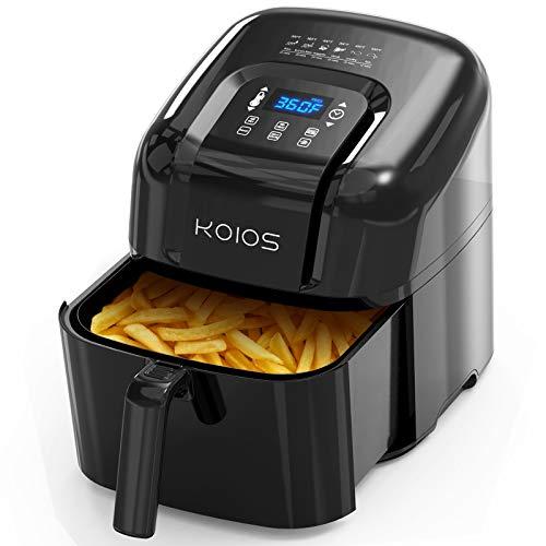 KOIOS Air Fryers Oven, Max XXL 7.8-Quart Dehydrator, 1800-Watt 4*6 Presets for Air Frying, Roasting, Reheating, Ergonomic Touchscreen, Oil-less, ETL Listed (160 Recipes)