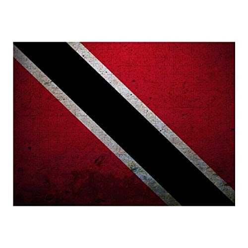 NiYoung Women Men Girls Boys 500 Pieces Flag of Trinidad and Tobago Puzzles Fashion Challenge Fun Jigsaw Puzzles, Intellectual Education Toy Ideal for Relaxation Meditation Hobby