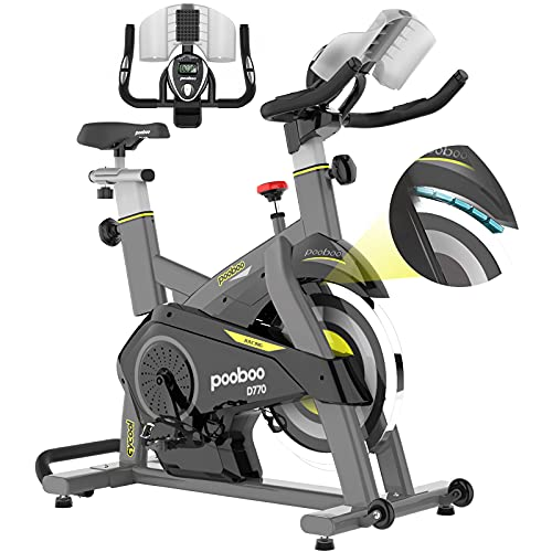 pooboo Magnetic Exercise Bikes Stationary Bike Belt Drive Indoor Cycling Bike Fitness Bike for Home Cardio Workout with Tablet Holder
