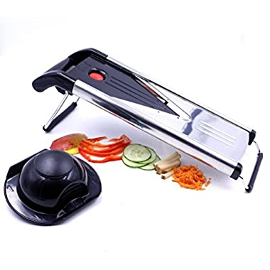 Mandoline Slicer, Vegetable Potato Slicer, Julienne Slicer, Onion Cutter, Including 5 Interchangeable Stainless Steel Blade By Medove.