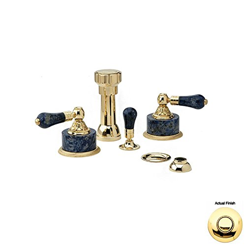 Lowest Price! Phylrich K4242_007 - Versailles Four Hole Bidet Set W/Vertical Spray, Bleu Sodalite Ha...