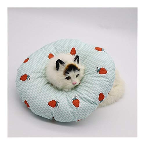 WEIZI Anillo de protección de tela suave relleno de algodón para mascotas y gatos, collar de cuello antimordedura (color: C, tamaño: M)