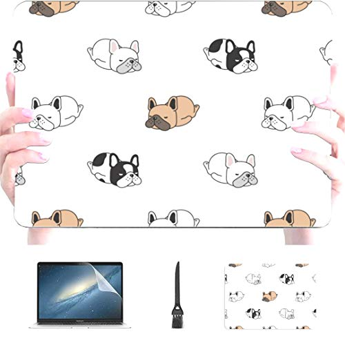 Engree MacBook Pro 13 Inch Case 2015 2014 2013 end 2012 A1502 A1425, Dog French Bulldog Pattern Hard Shell Case Cover for Old Version Apple Mac Pro Retina 13
