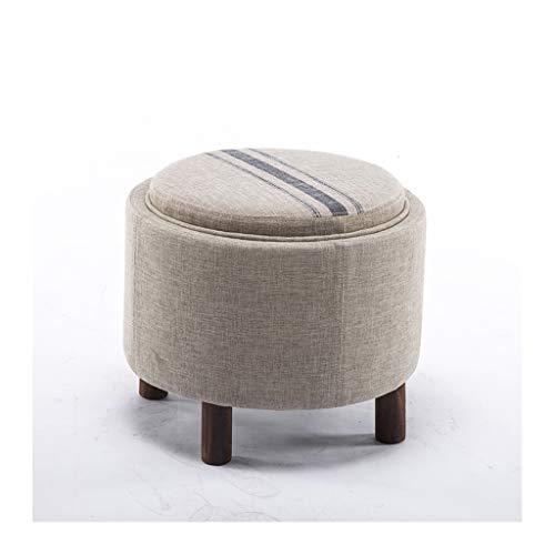 Jambala 3 in 1 tavolino + Scatola di immagazzinaggio + poggiapiedi, Panca Multiuso in Legno for poltrone Pouf da 19.3 * 19.3 * 16.5in (Color : Pure Color)