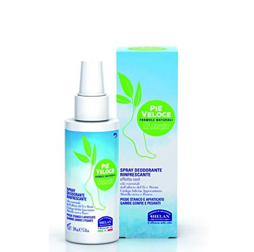 Helan Pie 'Veloce Spray déodorant rafraîchissant – 3 boîtes de 100 ml – totale : 300 ml