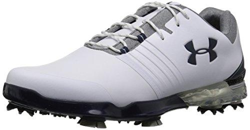 Under Armour Men's Match Play Golf Shoe, White (104)/Steel, 7