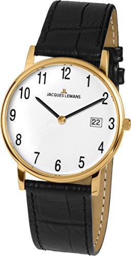 Jacques Lemans Vienna–Reloj de Pulsera analógico Unisex de Cuarzo Piel 1–1848d