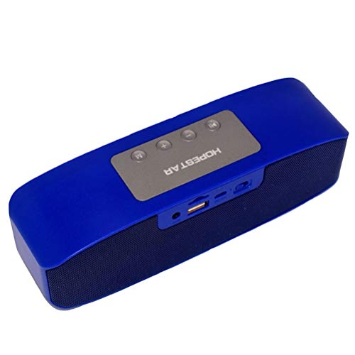 QAR Bluetooth-Lautsprecher Blau Batteriekapazität 2400mAH Tragbare TFUSB-Schnittstelle AUX Audio Play Home Decoration Audio (Color : Blue)