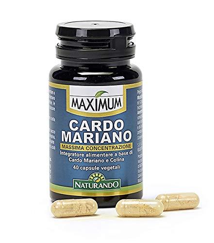 Maximum Cardo Mariano 40 Cápsulas Vegetales Complemento Alimenticio Que Favorece Las Funciones Hepáticas, Digestivas Y La Purificación Del Organismo