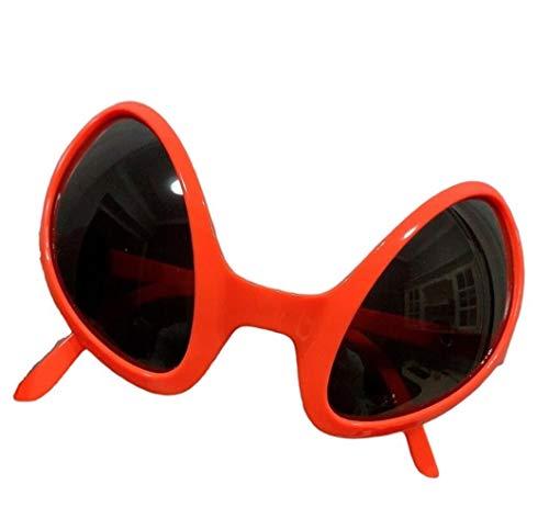 3 Stück Neuheit Brille Multicolor Alien Sonnenbrille Partei-Bevorzugungen Für Erwachsene Und Kinder (Color : Orange)