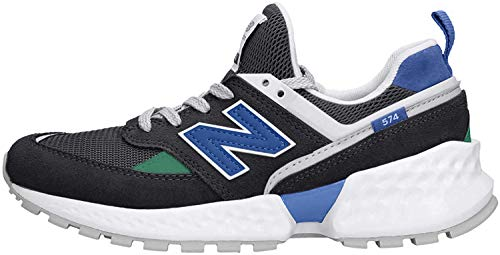 New Balance 574S v2, Zapatillas Unisex niños, Negro (Black/UV Blue SL), 29 EU