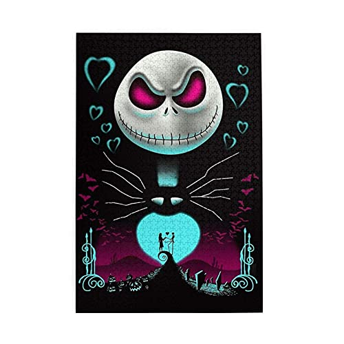 The Nightmare Before Christmas Puzzle 1000 Pieces Wooden Decoration Jigsaw Entertainment Puzzles Teens Adults Family Games Challenging and Relaxing