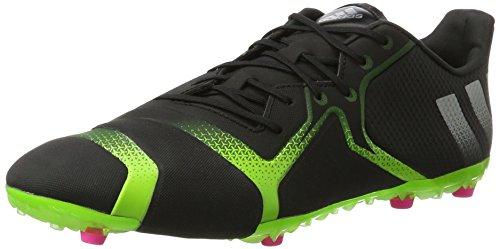 adidas Herren Ace 16+ Fußballschuhe, Schwarz (Black/Green/Silver Black/Green/Silver), 44 EU