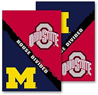 NCAA Michigan - Ohio State 2-Sided House Divided Rivalry Garden Flag