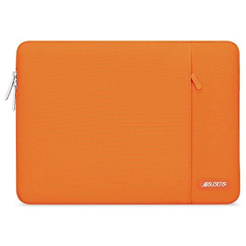 MOSISO Laptop Sleeve Hülle Kompatibel mit 13-13,3 Zoll MacBook Pro, MacBook Air, Notebook Computer, Polyester Vertikale Stil Laptoptasche, Orange