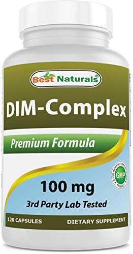 Best Naturals DIM Supplement 100 mg 120 Capsules, DIM for Estrogen Metabolism & Balance, For Menopause, Body Building, PCOS & Hormonal Acne