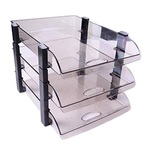 Schreibtisch Organisator/Ordner-Ablagesysteme Side Load-Briefablage Bürobedarf Akten-Halter Drei-Schicht-Dokument Briefpapier Tray Desktop-transparenter Plastikkorb Information Storage Box Datei Ablag