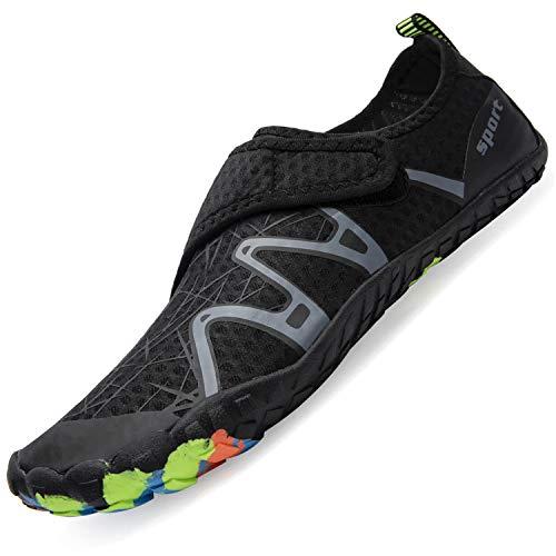 Mens Women Water Sport Shoes Barefoot QuickDry Aqua Socks for Beach Swim Surf Yoga Exercise 145 Women/13 Men