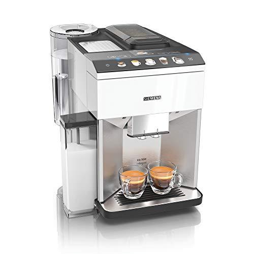 Siemens TQ507D02 EQ.500 integral Kaffeevollautomat, einfache Bedienung, integrierter Milchbehälter, zwei Tassen gleichzeitig, 1.5, weiß