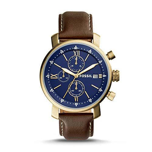 Fossil Rhett Cronógrafo marrón reloj de cuero BQ2099