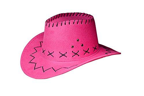 Miobo Cowboyhut Westernhut Cowgirl australien Texas Cowboy Hut Hüte Western für Erwachsene und Kinder (One Size, Pink für Kinder)