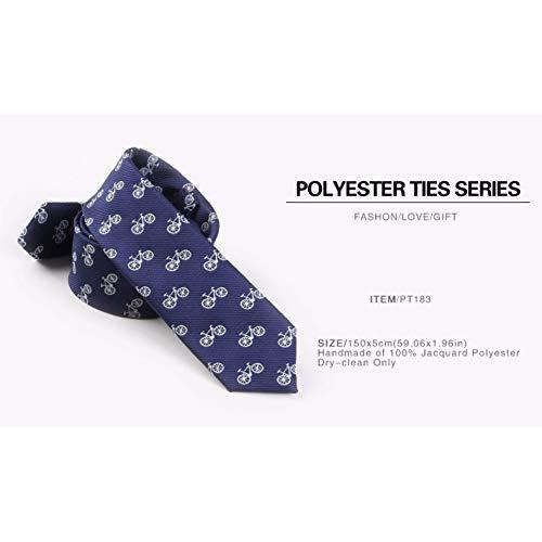 LXTMWSJ Cravate Halloween pour Homme Vogue Homme Crâne De Soie Vélo Partern Maigre Cravate Bleu De Mariage Cravate Cadeaux pour Les Hommes