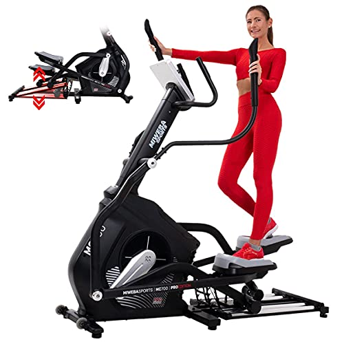 Miweba Sports Crosstrainer MC700 Stepper Ellipsentrainer Heimtrainer - Streaming App - 30 Kg Schwungmasse - Magnetbremse - Pulsmessung