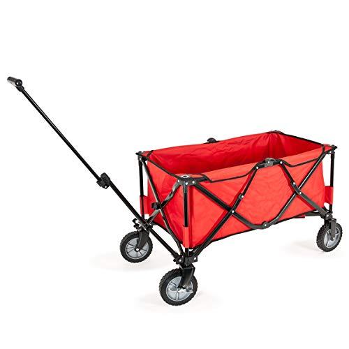 bremermann Bollerwagen, Handwagen, Einkaufswagen, faltbar (rot)