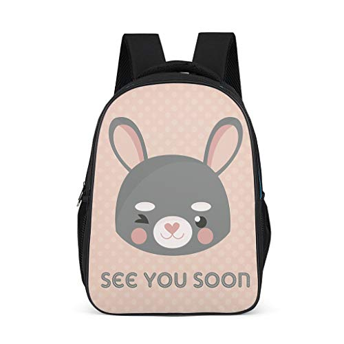 animal Adult's Bookbag Lightweight Perfect Size for Gift animal grey onesize