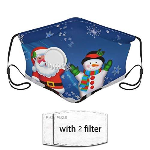 Face Bandana Mouth Cover - Snowman Santa Neck Gaiter Breathable Balaclava - Reusable For Man, Woman, Outdoor
