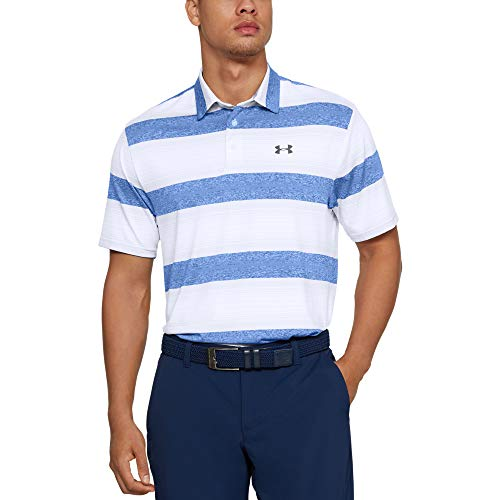 Under Armour Playoff 2.0 Polo, Hombre, (White/Moonstone Blue