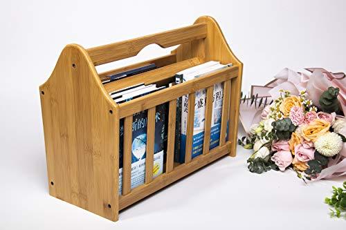 Woodluv Ständer für Zeitungen und Zeitschriften, aus 100% Bambus, natur
