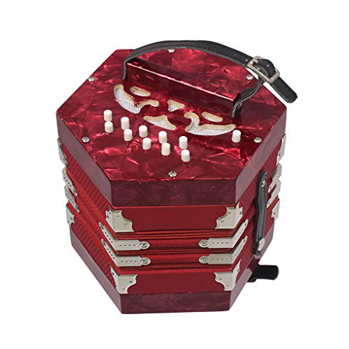 Accordion 20-Button 40-Reed Concertina Anglo Style with Carrying Bag Accordion...