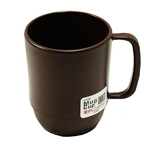 Japanese Microwavable Water Mug Unbreakable Milk Juice Mug for Kids Camping Travel Water Tea Coffee Mug 12 ounce BPA Free Non-Toxic Dishwasher Safe Made in Japan, Chocolate