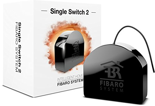 Fibaro FGS-213 Switch 2, Negro